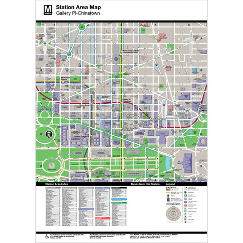 Gallery Pl / Chinatown Area Map Print