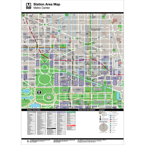 Metro Center Area Map Print