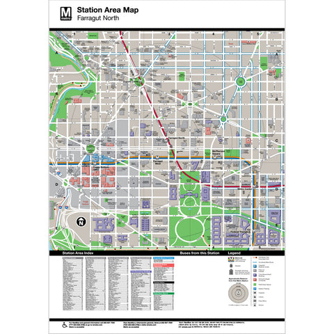 Farragut North Area Map Print