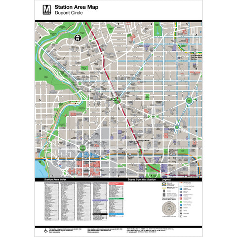 Dupont Circle Area Map Print