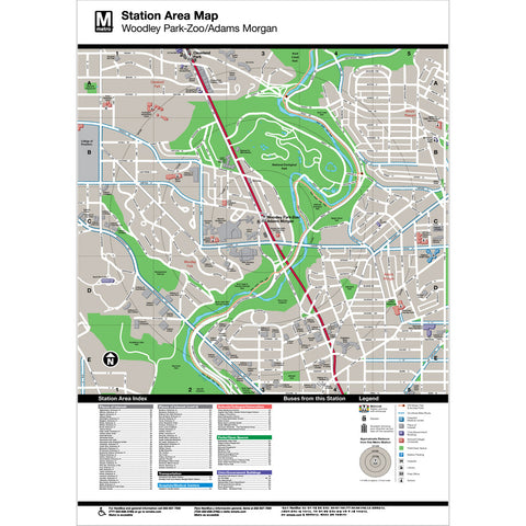 Woodley Park Zoo / Adams Morgan Area Map Print