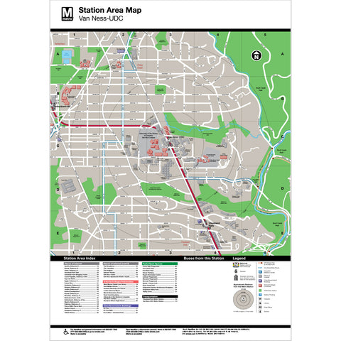 Van Ness (UDC) Area Map Print