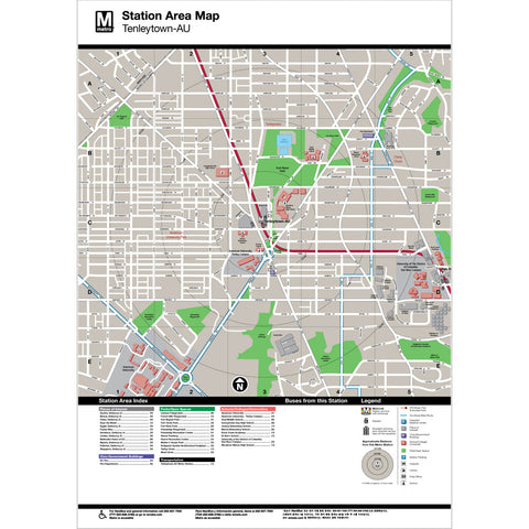 Tenleytown (AU) Area Map Print