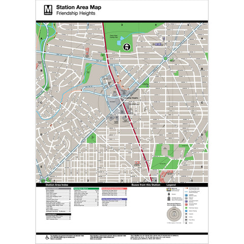 Friendship Heights Area Map Print