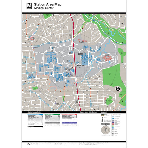 Medical Center Area Map Print