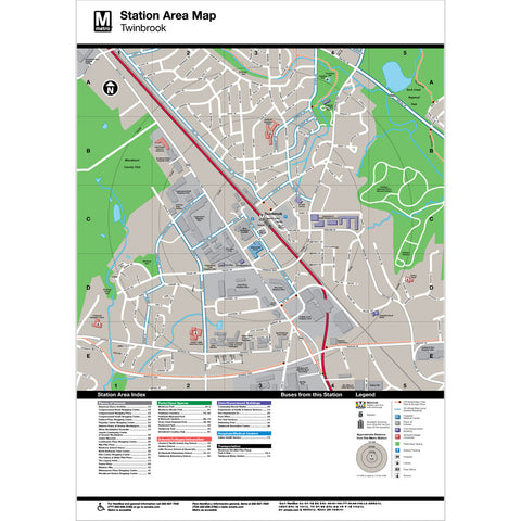 Twinbrook Area Map Print