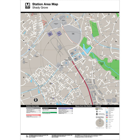 Shady Grove Area Map Print