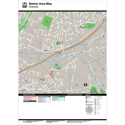 Cheverly Area Map Print