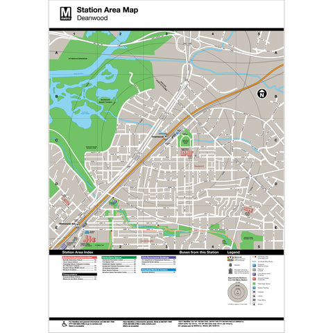 Deanwood Area Map Print