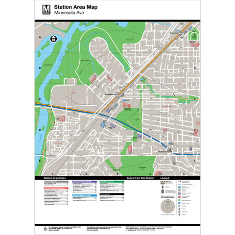 photograph relating to Printable Map of Minnesota called Minnesota Ave Nearby Map Print