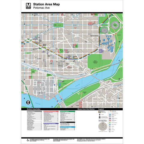 Potomac Ave Area Map Print