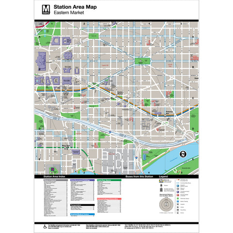 Eastern Market Area Map Print