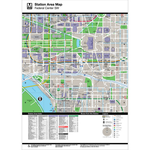 Federal Center SW Area Map Print