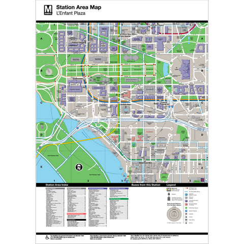 L'Enfant Plaza Area Map Print