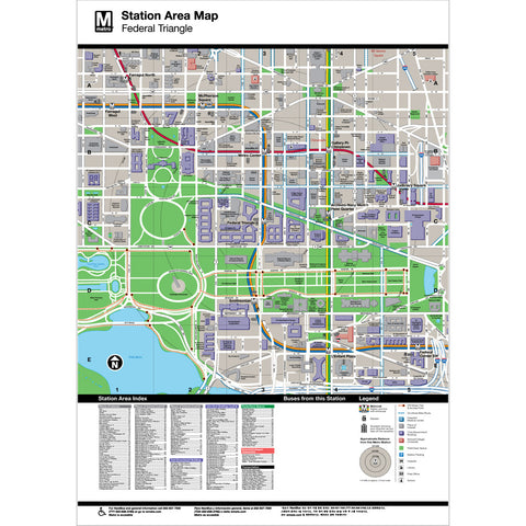 Federal Triangle Area Map Print