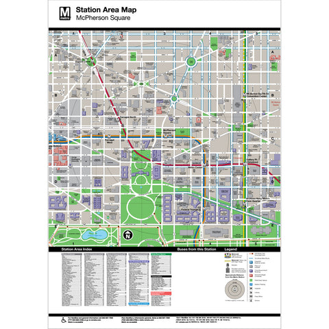 McPherson Sq Area Map Print