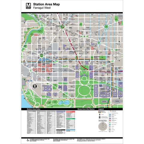 Farragut West Area Map Print