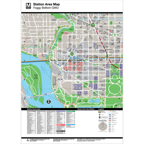Foggy Bottom (GWU) Area Map Print