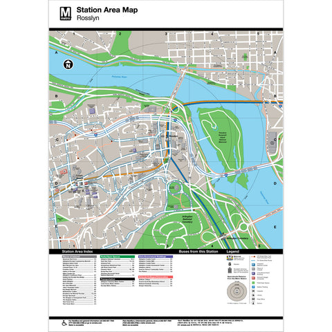 Rosslyn Area Map Print