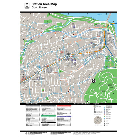 Court House Area Map Print