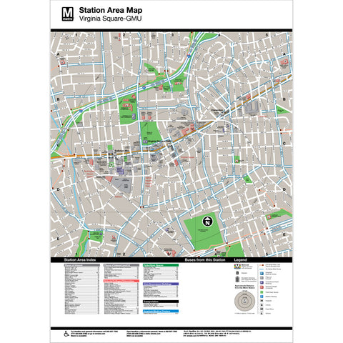 Virginia Sq-GMU Area Map Print