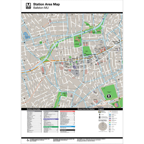 Ballston MU Area Map Print