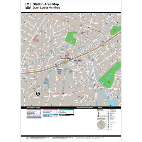 Dunn Loring Merrifield Area Map Print