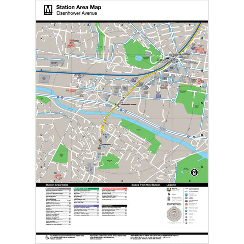 Eisenhower Ave Area Map Print