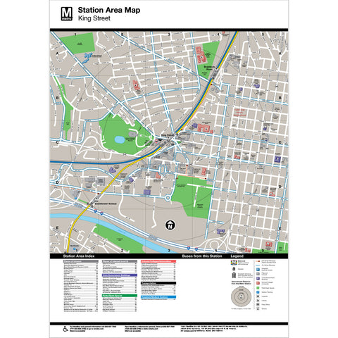 King Street Area Map Print