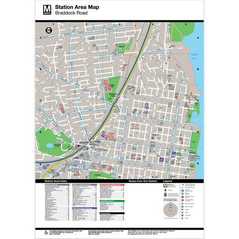 Braddock Road Area Map Print