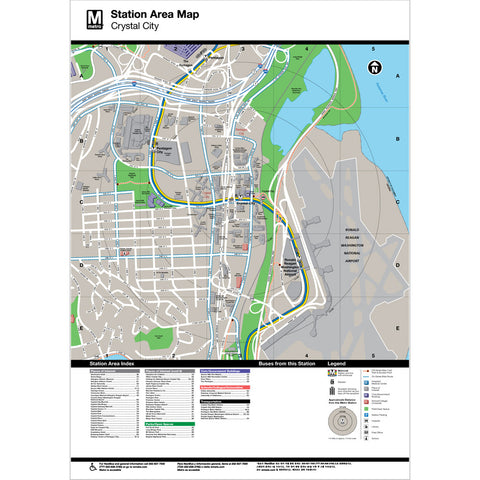 Crystal City Area Map Print