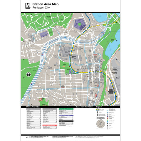 Pentagon Area Map Print