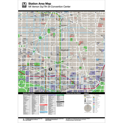 Mt Vernon Sq / 7th St Convention Center Area Map Print