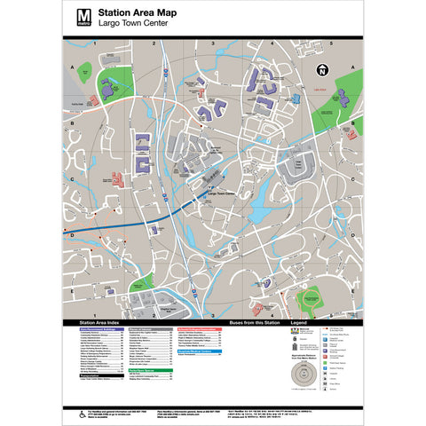 Largo Town Center Area Map Print