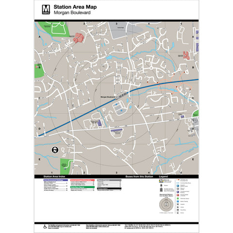 Morgan Boulevard Area Map Print