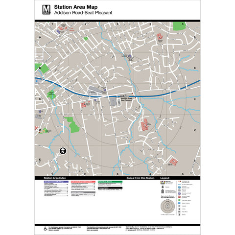 Addison Road / Seat Pleasant Area Map Print