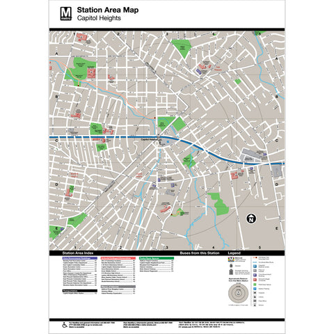 Capitol Heights Area Map Print
