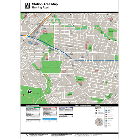 Benning Road Area Map Print