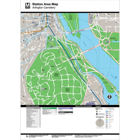 Arlington Cemetery Area Map Print