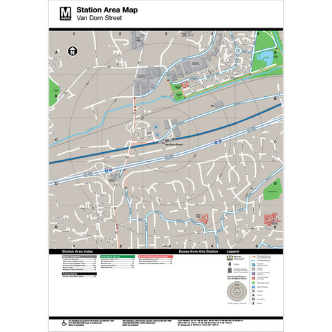 Van Dorn Street Area Map Print
