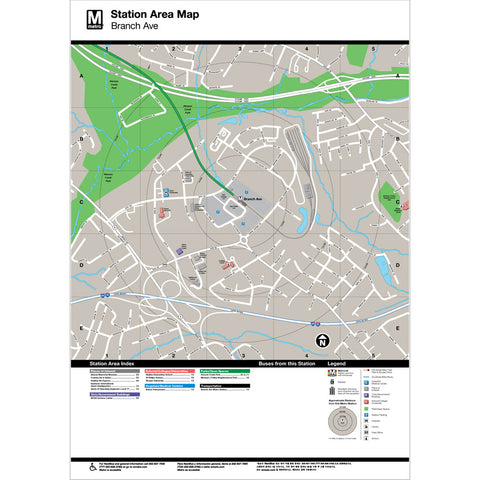 Branch Ave Area Map Print
