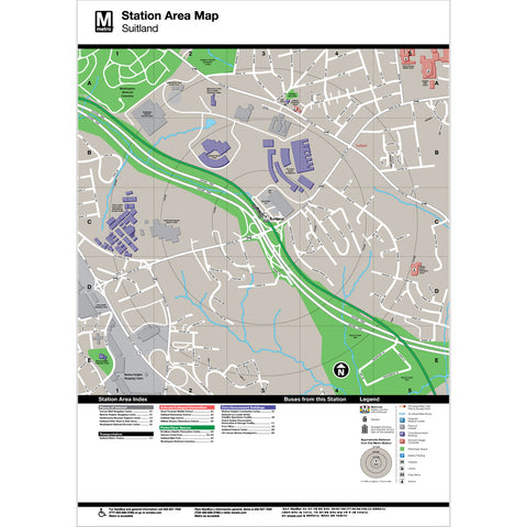 Suitland Area Map Print