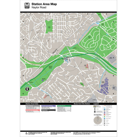 Naylor Road Area Map Print
