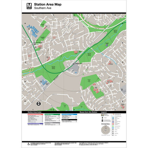 Southern Ave Area Map Print