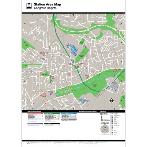 Congress Heights Area Map Print
