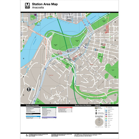 Anacostia Area Map Print