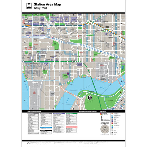 Navy Yard Area Map Print