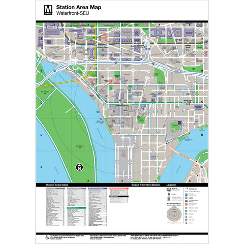 Waterfront (SEU) Area Map Print