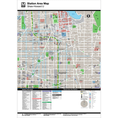 Shaw / Howard Univ Area Map Print