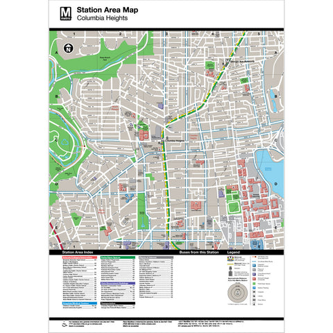 Columbia Heights Area Map Print